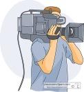 Cameraman Holding Camera